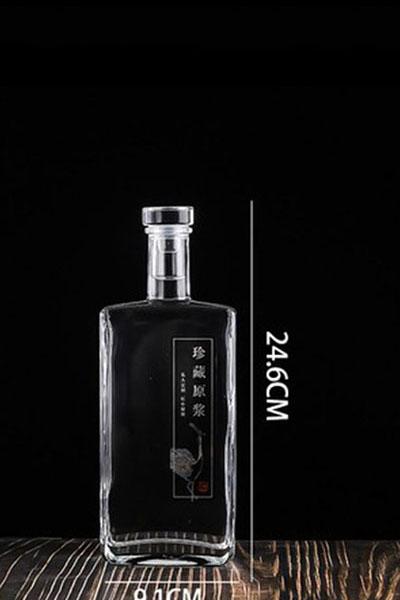 晶白酒瓶- 018